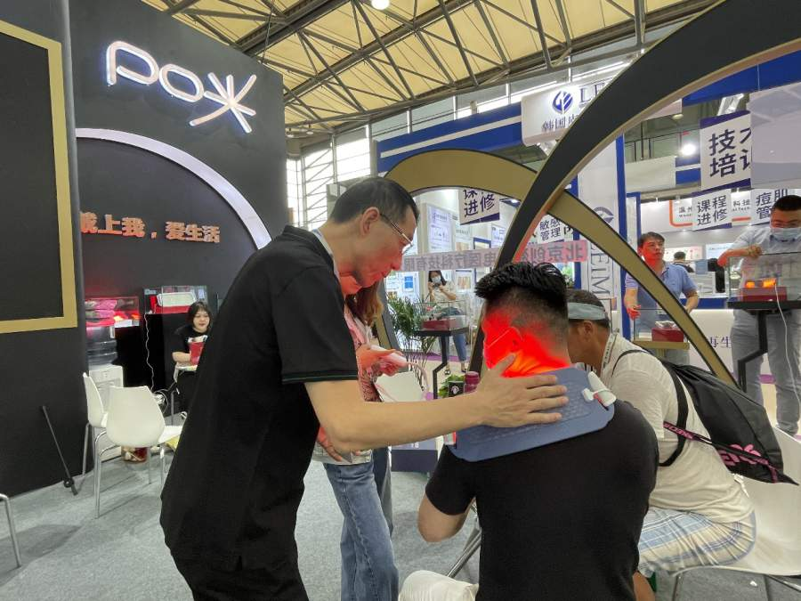 直击上海美博会,创盈光疗PO光智能穿戴
