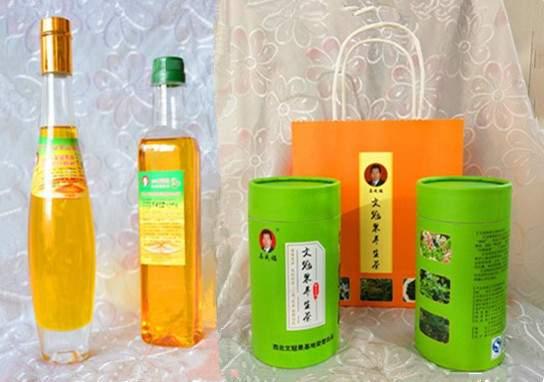 西北文冠果基地生产的文冠果油和文冠果茶