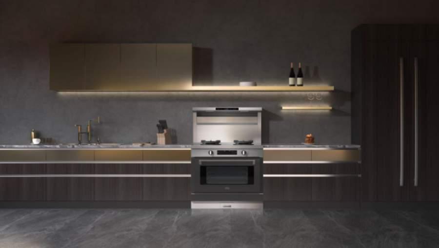 厨房的摆设布局  中度可信度描述已自动生成